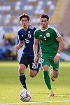 Babajanov Zafar of Turkmenistan (R) is followed by Osako Yuya of Japan during the AFC Asian Cup UAE 2019 Group F match between Japan (JPN) and Turkmenistan (TKM) at Al Nahyan Stadium on 09 January 2019 in Abu Dhabi, United Arab Emirates. Photo by Marcio Rodrigo Machado / Power Sport Images