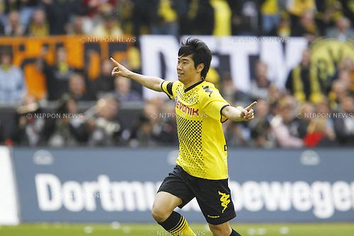 Shinji Kagawa (Dortmund), MAY 14th, 2011 - Football : Shinji Kagawa celebrates Bundesliga match between Borussia Dortmund and Eintracht Frankfurt at the Signal Iduna Park on 14 May 2011, in Dortmund, Germany. (Photo by AFLO) [3604].