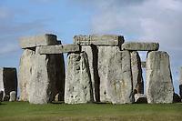 Horseshoe of Sarsen Trilithons, Stonehenge, Neolithic and Bronze Age megalithic monument, 3050 - 1500 BC, Salisbury, Wiltshire, England, UK. Picture by Manuel Cohen