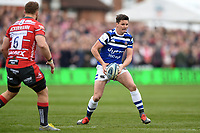 Freddie Burns of Bath Rugby in possession. Gallagher Premiership match, between Gloucester Rugby and Bath Rugby on April 13, 2019 at Kingsholm Stadium in Gloucester, England. Photo by: Patrick Khachfe / Onside Images
