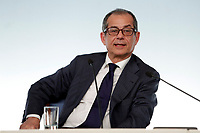 Giovanni Tria<br /> Roma 15/10/2018. Consiglio dei Ministri sulla Manovra Economica DEF.<br /> Rome October 15th 2018. Minister's Cabinet about the Economic and Financial Document.<br /> Foto Samantha Zucchi Insidefoto