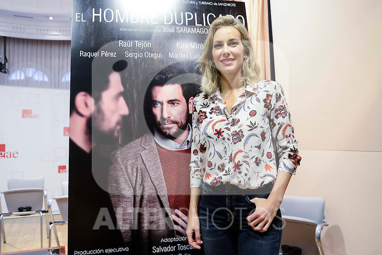 "Kira Miro during the presentation of the theater play ""El Hombre Duplicado"" , based in the book of Jose Saramago at SGAE in Madrid, Spain. December 12, 2016. (ALTERPHOTOS/BorjaB.Hojas)"