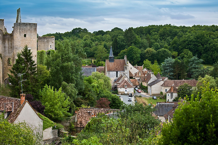 Traditional French village of Angles Sur L'Anglin, Vienne, near Poitiers, France