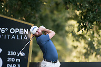 Liam Johnston (SCO) in action on the 16th hole during the second round of the 76 Open D'Italia, Olgiata Golf Club, Rome, Rome, Italy. 11/10/19.<br /> Picture Stefano Di Maria / Golffile.ie<br /> <br /> All photo usage must carry mandatory copyright credit (© Golffile | Stefano Di Maria)