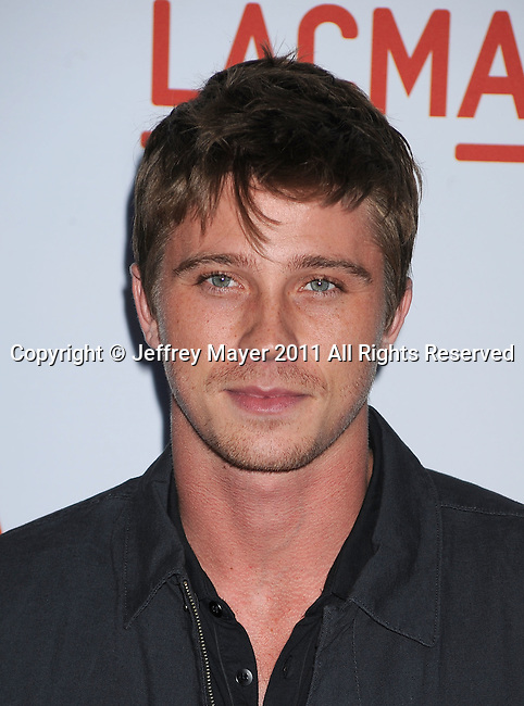"""LOS ANGELES, CA - MAY 24: Garrett Hedlund attends """"The Tree Of Life"""" Los Angeles Premiere at the Bing Theatre in the Los Angeles County Museum of Art on May 24, 2011 in Los Angeles, California."""