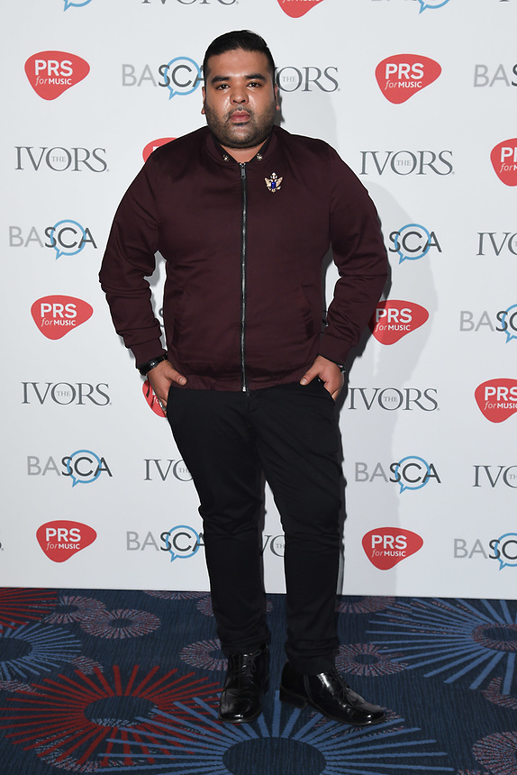 Naughty Boy<br /> at The Ivor Novello Awards 2017, Grosvenor House Hotel, London. <br /> <br /> <br /> ©Ash Knotek  D3267  18/05/2017