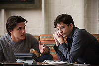 The Big Short (2015)<br /> Finn Wittrock plays Jamie Shipley and John Magaro plays Charlie Geller <br /> *Filmstill - Editorial Use Only*<br /> CAP/KFS<br /> Image supplied by Capital Pictures