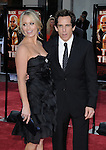 Ben Stiller and wife Christine Taylor arriving to the premiere for Tropic Thunder, held at Mann's Village Theater in Westwood, Ca. August 11, 2008. Fitzroy Barrett