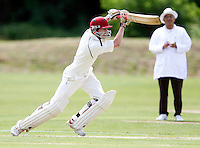 J Hewton bats for North Middlesex during the Middlesex County League Division two game between North Middlesex and Hornsey at Park Road, Crouch End on Sat July 9, 2011