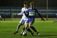 Friday 15 December 2017<br /> Pictured: <br /> Re: Swansea City U18s v Chesterfield, U18s Youth Cup Match at the Landore Training Ground, Wales, UK