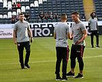 12.08.2018, Commerzbank - Arena, Frankfurt, GER, Supercup, Eintracht Frankfurt vs FC Bayern M&uuml;nchen , <br />DFL REGULATIONS PROHIBIT ANY USE OF PHOTOGRAPHS AS IMAGE SEQUENCES AND/OR QUASI-VIDEO.<br />im Bild<br />Ante Rebic (Frankfurt), Mijat Gacinovic (Frankfurt), Luka Jovic (Frankfurt)<br /> <br /> Foto &copy; nordphoto / Bratic