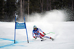 December 1, 2017:  Switzerland's, Ralph Weber #24, charges down a very fast slope in the Super G competition during the FIS Audi Birds of Prey World Cup, Beaver Creek, Colorado.