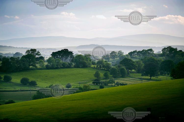 Farmland in Cumbria, near Workington.