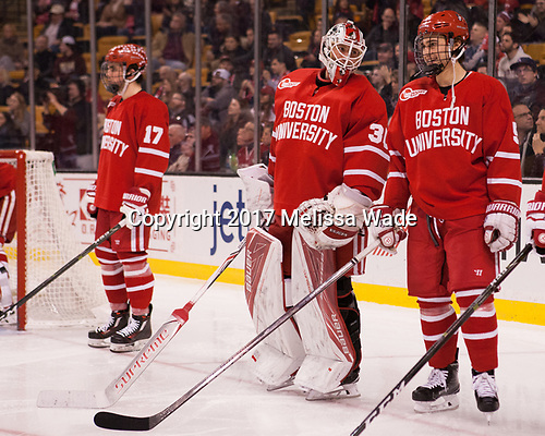 (Fabbro) Connor Lacouvee (BU - 30), Chad Krys (BU - 5) - The Boston University Terriers defeated the Boston College Eagles 3-1 in their opening Beanpot game on Monday, February 6, 2017, at TD Garden in Boston, Massachusetts.