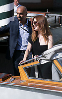 Julianne Moore departs by boat during the 74th Venice Film Festival at Hotel Excelsior in Venice, Italy, on 01 September 2017. - NO WIRE SERVICE - Photo: Hubert Boesl /DPA/MediaPunch ***FOR USA ONLY***