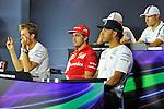 Nico Rosberg (GER), Mercedes GP - Fernando Alonso (ESP),  Scuderia Ferrari - Lewis Hamilton (GBR), Mercedes GP - Valtteri Bottas (FIN), Williams F1 Team<br />  Foto &copy; nph / Mathis