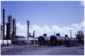 Tank cars parked at Oriental Refinery adjacent to the D&amp;RGW Alamosa yards.<br /> D&amp;RGW  Alamosa, CO  Taken by West, John - 7/1963