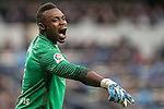 Goalkeeper Idriss Carlos Kameni of Malaga CF reacts during their La Liga 2016-17 match between Real Madrid and Malaga CF at the Estadio Santiago Bernabéu on 21 January 2017 in Madrid, Spain. Photo by Diego Gonzalez Souto / Power Sport Images