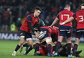 9th December 2017, Thomond Park, Limerick, Ireland; European Rugby Champions Cup, Munster versus Leicester Tigers;  Conor Murray of Munster, makes a box kick