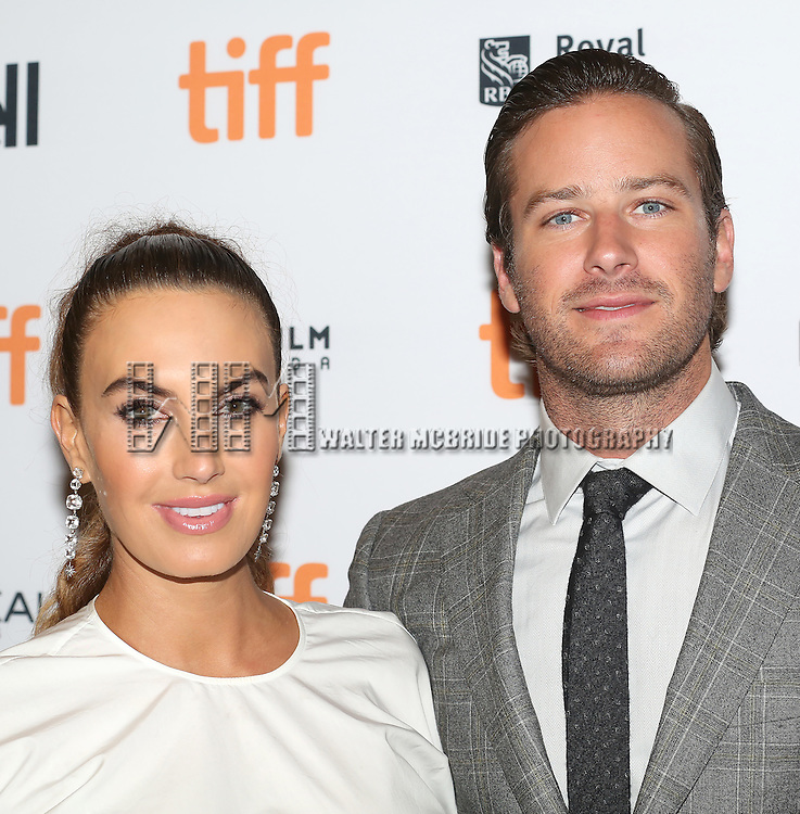 Elizabeth Chambers and Armie Hammer attends the 'The Birth of a Nation' Red Carpet Premiere during the 2016 Toronto International Film Festival premiere at Princess of Wales Theatre on September 9, 2016 in Toronto, Canada.