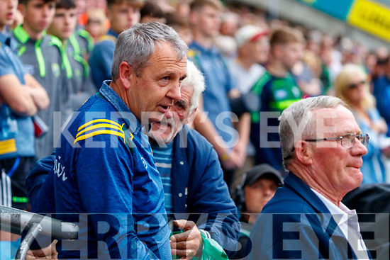 Kerry Manager Peter Keane celebrates after the All Ireland Senior Football Semi Final between Kerry and Tyrone at Croke Park, Dublin on Sunday.