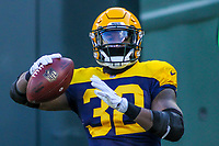 Green Bay Packers running back Devante Mays (32) during a National Football League game against the Baltimore Ravens on November 19th, 2017 at Lambeau Field in Green Bay, Wisconsin. Baltimore defeated Green Bay 23-0. (Brad Krause/Krause Sports Photography)