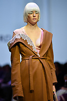 7 September 2017, Melbourne - Model parades design by RMIT student Lydia Foord during the Melbourne Fashion Week in Melbourne, Australia. (Photo Sydney Low / asteriskimages.com)