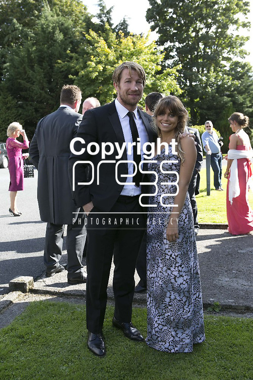 Gerry Flannery & Katie Barrwell Arriving at the wedding of Ex Munster & Ireland Rugby Player Denis Leamy &  Grainne  Brosnan in Rockwell College Church Co.Tipperary Picture Credit: Brian Gavin Press 22