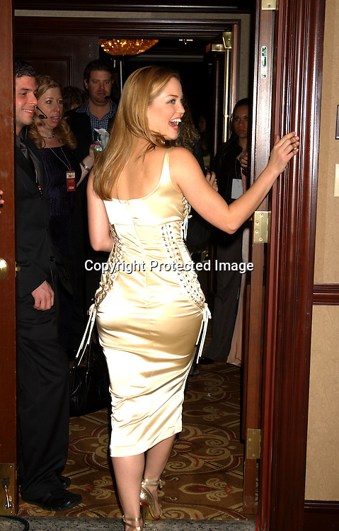 """Erika Christensen in Dolce and Gabbana                                     ..at the Eighth Annual GQ """" Men of the Year """" Awards on ..Spike TV on October 21, 2003 at the Regent Wall Street  ..in New York City. Photo by Robin Platzer, Twin Images"""