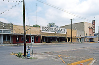 Gonzales:  North side of West Square.  Photo '80.