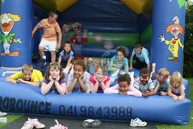 Fun on the Bouncing Castle at the Annual Family Fun Day in 5 Oaks...Photo NEWSFILE/Jenny Matthews.(Photo credit should read Jenny Matthews/NEWSFILE)....This Picture has been sent you under the condtions enclosed by:.Newsfile Ltd..The Studio,.Millmount Abbey,.Drogheda,.Co Meath..Ireland..Tel: +353(0)41-9871240.Fax: +353(0)41-9871260.GSM: +353(0)86-2500958.email: pictures@newsfile.ie.www.newsfile.ie.FTP: 193.120.102.198.