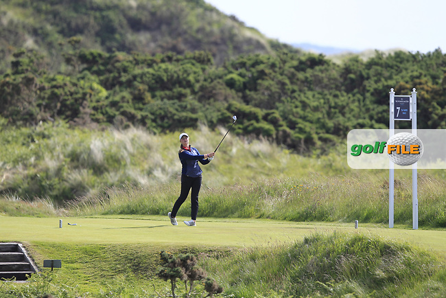Euphemie Rhodes (ENG) on the 7th tee during Round 3 Matchplay of the Women's Amateur Championship at Royal County Down Golf Club in Newcastle Co. Down on Friday 14th June 2019.<br />
