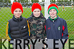 Supporting Bale, Barry O'Neill, Connor Twomey, Mark Hennessy pictured during half time at the Bernard O'Callaghan Memorial Senior Football Championship final last Saturday Beale V Listowel Emmets