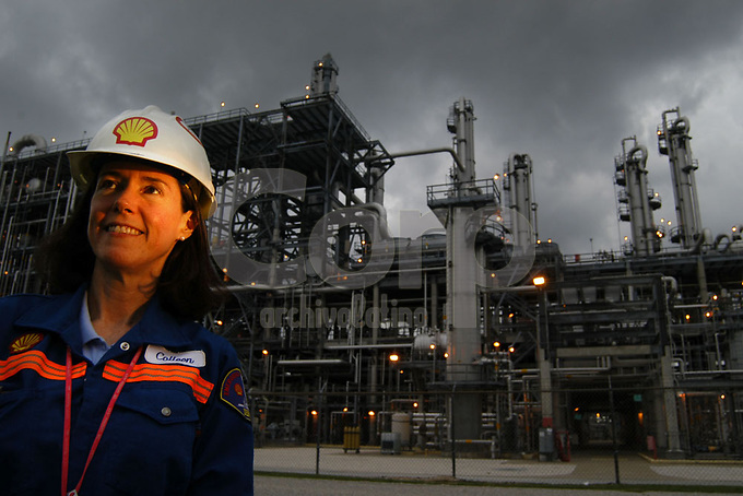 Refineria Deer Park en Houston, Texas, USA.