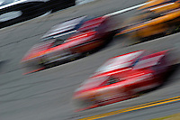 14 February, 2010, Daytona Beach, Florida USA USA.Cars spped by on the banking in turn 4..©F. Peirce Williams 2010 USA.