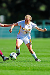 19 September 2010: University of Vermont Catamount midfielder/defender Emily Milbank, a Senior from Shelburne, VT in action against the Colgate University Raiders, at Centennial Field in Burlington, Vermont. The Raiders scored a pair of second half goals two minutes apart to notch a 2-0 victory over the Lady Cats in non-conference women's soccer play. Mandatory Credit: Ed Wolfstein Photo