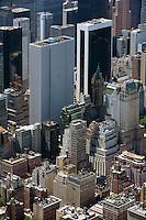 aerial photograph rooftop garden east side, Manhattan, New York City