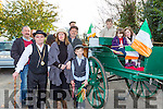 Donal Breen, Mike Flynn, Helen Cronin, Cillian and Frank Cronin, Liam Coffey, Darragh Coffey, Roisin Breen and Milly Coffey at the Castlemaine 1916 celebrations on Sunday