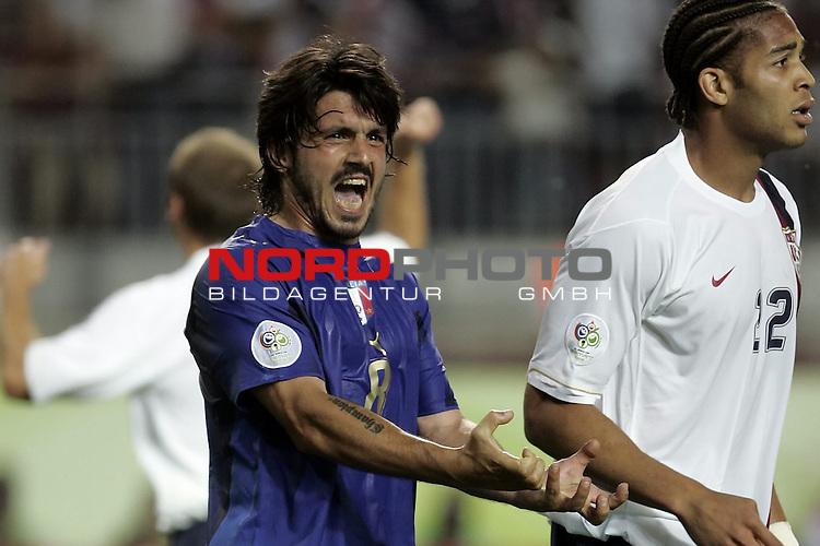 FIFA WM 2006 -  Gruppe E Vorrunde ( Group E )<br /> Play   #25 (17-Jun) - Italien - USA 1:1<br /> <br /> GATTUSO<br /> <br /> <br /> Foto &copy; nordphoto