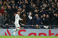 Son Heung-Min of Tottenham Hotspur celebrates scoring the first goal during Tottenham Hotspur vs FC Bayern Munich, UEFA Champions League Football at Tottenham Hotspur Stadium on 1st October 2019
