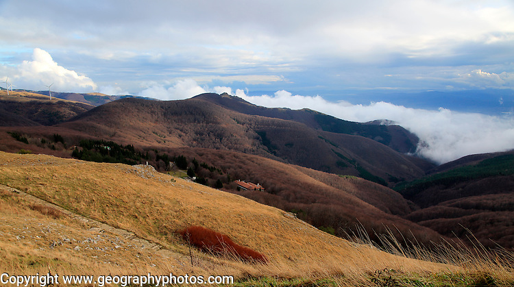 Mountain landscape scenery, Balkan Mountains, near Shipka, Bulgaria, eastern Europe