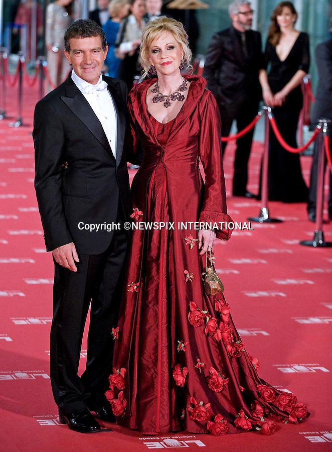 "MELANIE GRIFFITH AND HUSBAND ANTONIO BANDERAS.attend the 26th Edition of the Goya Awards, Palacio de Congresos de Madrid, Spain_19/02/2012.Mandatory Credit Photo: ©NEWSPIX INTERNATIONAL..                 **ALL FEES PAYABLE TO: ""NEWSPIX INTERNATIONAL""**..IMMEDIATE CONFIRMATION OF USAGE REQUIRED:.Newspix International, 31 Chinnery Hill, Bishop's Stortford, ENGLAND CM23 3PS.Tel:+441279 324672  ; Fax: +441279656877.Mobile:  07775681153.e-mail: info@newspixinternational.co.uk"