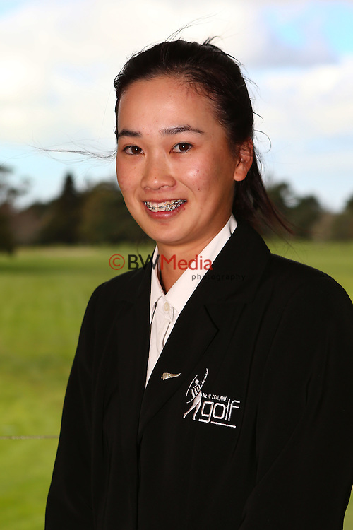 Munchin Keh. Espirito Santo Team Photoshoot, Royal Auckland Golf Course, Manukau, Auckland, Friday 8 August 2014. Photo: Simon Watts/www.bwmedia.co.nz <br /> All images &copy; NZ Golf and BWMedia.co.nz