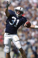 10 September 2005:  Paul Posluszny (31) bats down a pass..Penn State defeated Cincinnati 42-24 September 10, 2005 at Beaver Stadium in State College, PA..