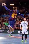 VELUX EHF 2017/18 EHF Men's Champions League Last 16.<br /> FC Barcelona Lassa vs Montpellier HB: 30-28.<br /> Aleix Gomez.