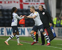 Preston North End's Jayden Stockley replaces Preston North End's Daniel Johnson<br /> <br /> Photographer Mick Walker/CameraSport<br /> <br /> The EFL Sky Bet Championship - Preston North End v Bristol City - Saturday 2nd March 2019 - Deepdale Stadium - Preston<br /> <br /> World Copyright © 2019 CameraSport. All rights reserved. 43 Linden Ave. Countesthorpe. Leicester. England. LE8 5PG - Tel: +44 (0) 116 277 4147 - admin@camerasport.com - www.camerasport.com