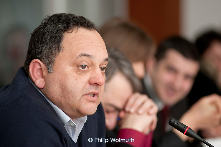 Nugzar Tchintcharauli, Chair of the Public Services Trade Union of Georgia, EPSU Eastern Region meeting in Tbilisi.