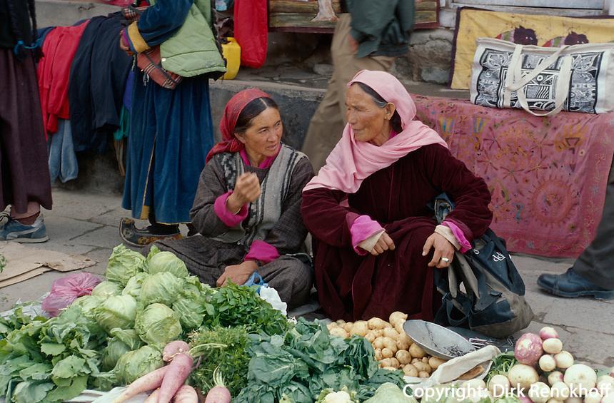 Leh: Markt, Ladakh (Jammu+Kashmir), Indien