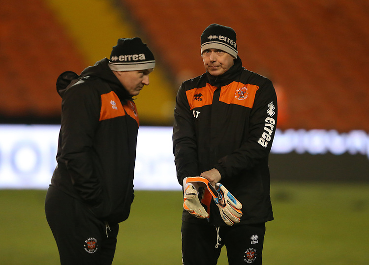 Blackpool backroom staff inspect the pitch<br /> <br /> Photographer Stephen White/CameraSport<br /> <br /> Emirates FA Cup Third Round - Blackpool v Arsenal - Saturday 5th January 2019 - Bloomfield Road - Blackpool<br />  <br /> World Copyright &copy; 2019 CameraSport. All rights reserved. 43 Linden Ave. Countesthorpe. Leicester. England. LE8 5PG - Tel: +44 (0) 116 277 4147 - admin@camerasport.com - www.camerasport.com