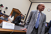 Representative Steve Cohen, Democrat of Tennessee, poses with a toy chicken in front the name placard of Attorney General William Barr following a hearing scheduled for Attorney General William Barr to testify about the Mueller Report before the United States House or Representatives Judiciary Committee on Capitol Hill in Washington, D.C. on May 2, 2019. Credit: Alex Edelman / CNP